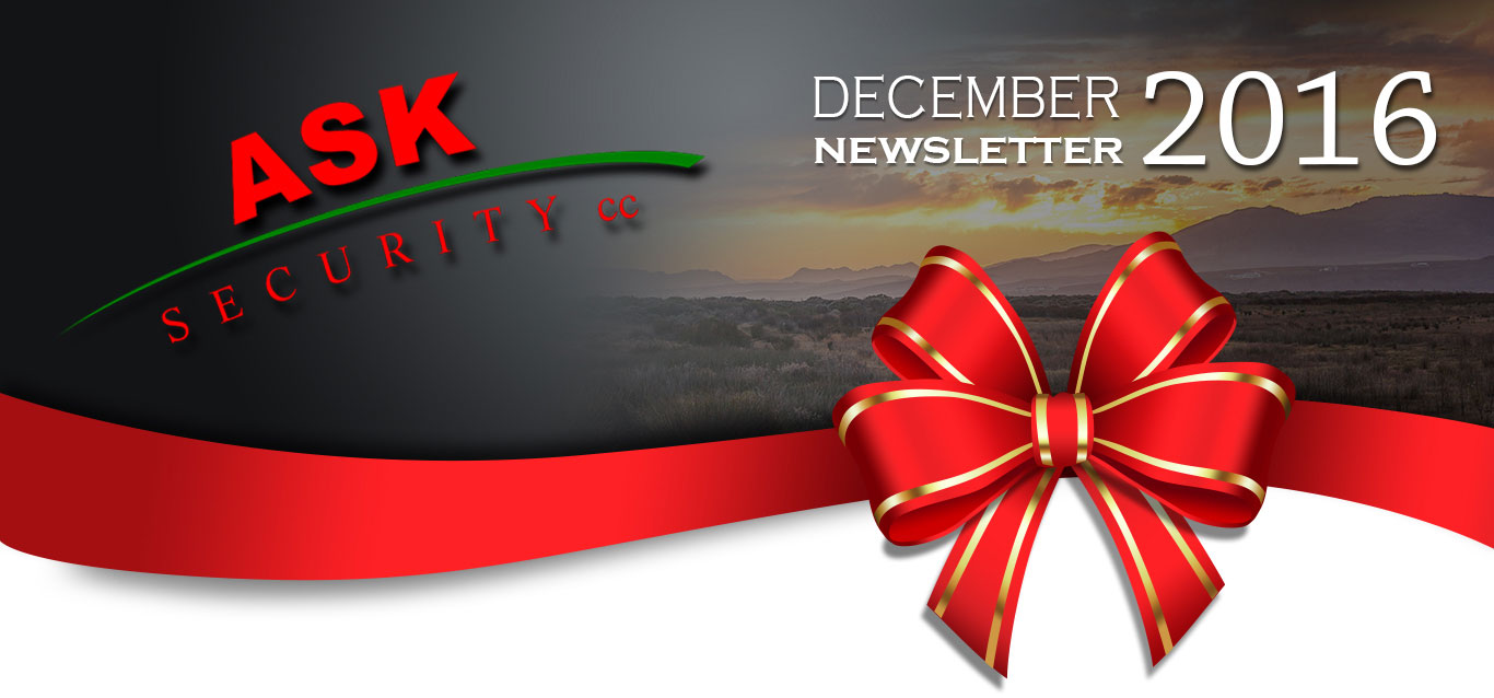 ASK Security December Newsletter 2016